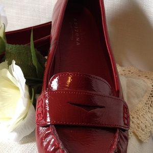 Red Patent Leather Loafers by Arizona Jean Company